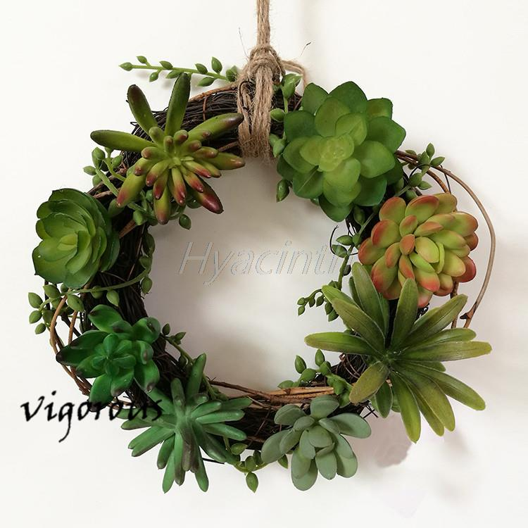 two options new ideas vivid simulation succulent plants artificial flower hoop house hold office leisure clubs cheap office plants