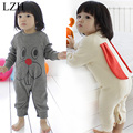 Baby Boy Girls Rompers 2017 Spring New Infant Clothing Kids Costume Cute Rabbit Printed Jumpsuit For Newborn Clothes Baby Romper