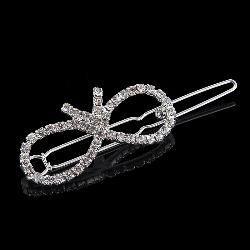 charm silver crystal butterfly barrette hair clip jewelry for women grils hair accessories pinzas de pelo gift