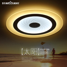 Modern LED Ceiling Light Round Swirl Pattern Living Room Lamp Acrylic New Energy Efficient Home Luxury Decor Lighting