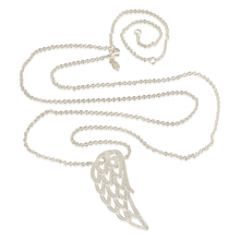 Suitable With Unique Charms 100% Sterling Silver 925 Necklaces With Angel Wing Attraction Pendant For Girls DIY Jewellery Wholesale