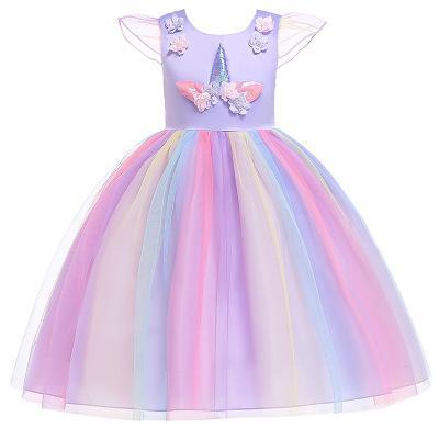 0b0a852b3da9 Unicorn Fancy Dress Lace Dress For Pink Wedding Party - Unilovers