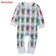Seartist Baby Girls Boys Jumpsuit Newborn Long-sleeved Romper Toddler Autumn Rompers Boy Clothes