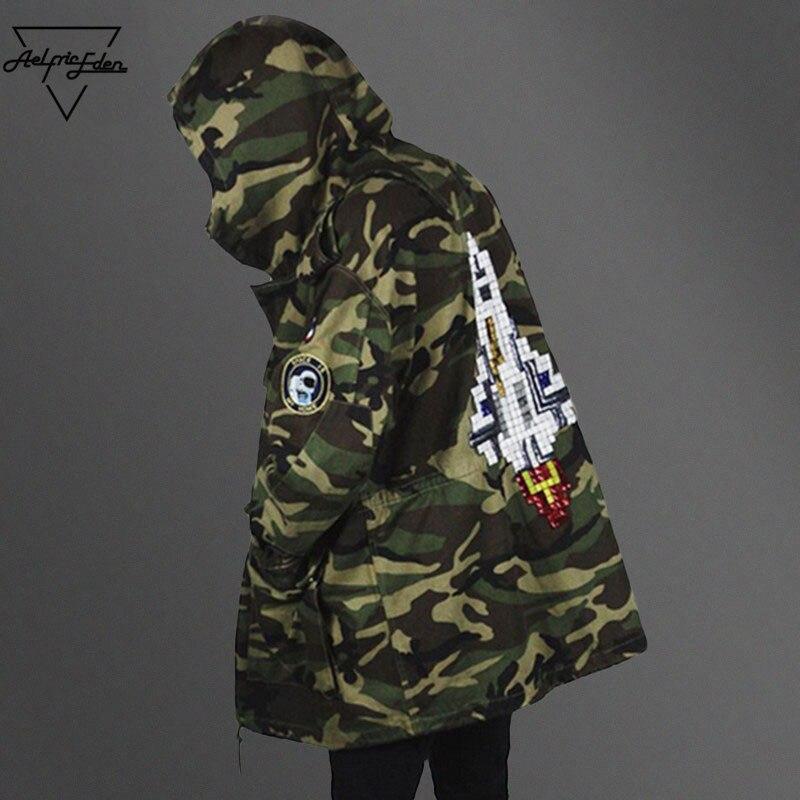 Aelfric Eden Winter Army Camouflage Jackets Thicken Longline Camo font b Hoody b font Jaqueta Masulina