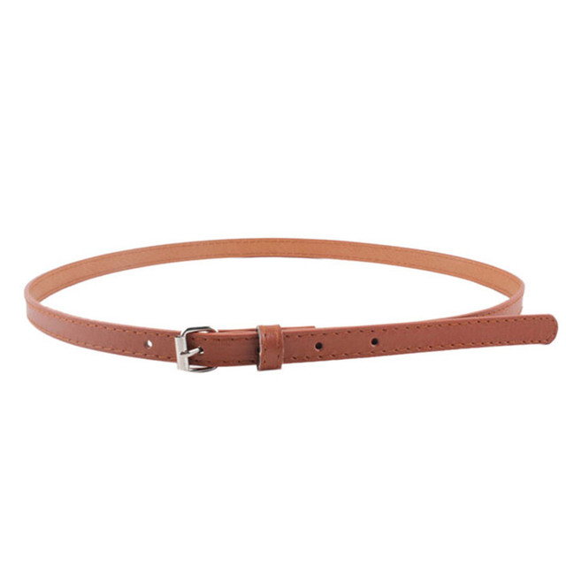 79c850789 Woman Girl belt Faux Leather Small steel buckle belt Candy Colours Strap PU  Leather Belt Waistband
