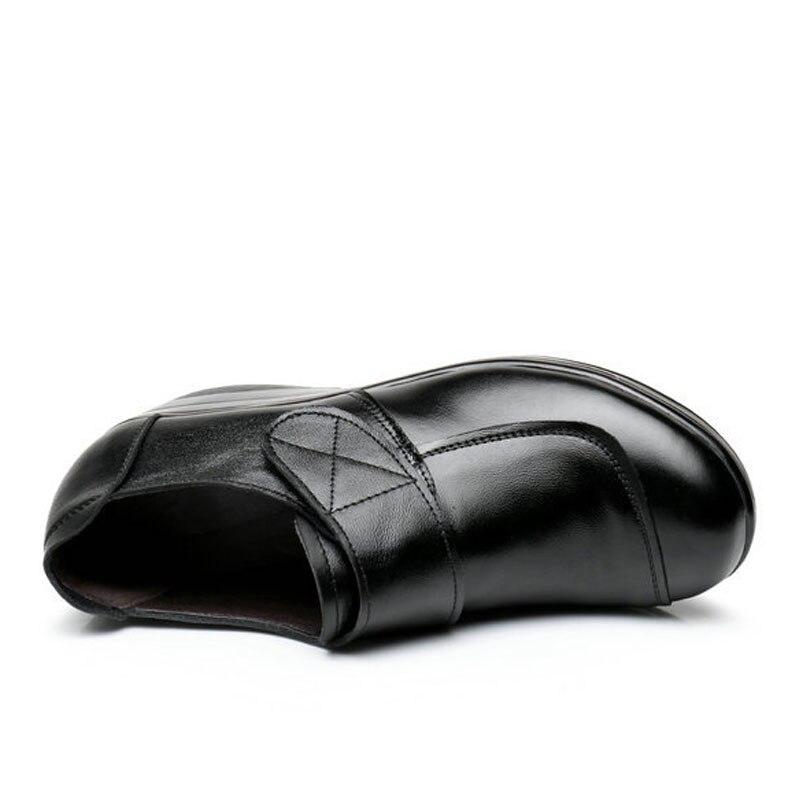 Oxford 2017 Bombas Resbalón Cuero Cuñas Zapatos Black Zk4 Tamaño Aumento Auténtico 35 Interno 0 40 Mujer Plataforma En W FFA0qrx