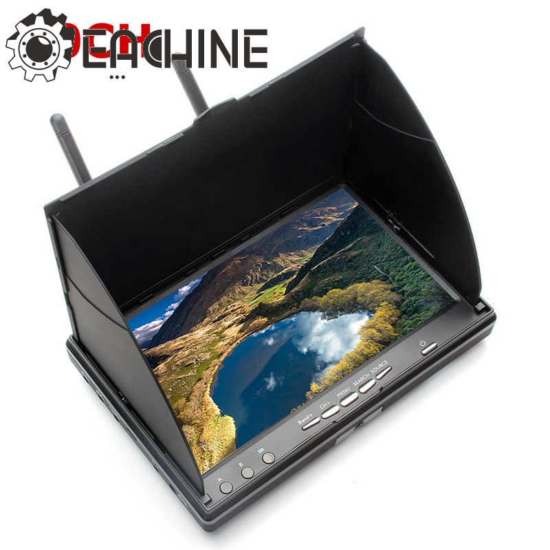 Eachine LCD5802S 5802 40CH Raceband 5.8g 7 pollice Diversity Receiver Monitor Con Build-in Batteria Per FPV Multicopter