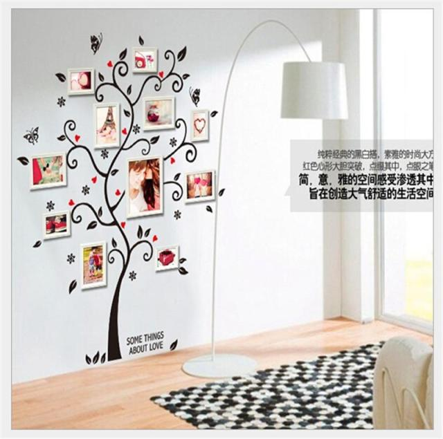 Photos Family Tree Wall Stickers Quotes Living Room Decorations Diy Home  Decals Removable Mural Art Print Part 91