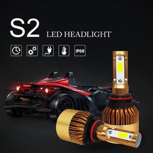Image 2 - COOLFOX Auto Lichter LED H4 9003 9005 9006 H1 H3 H8 H11 H7 Led Canbus Fehler Freies Lampe Auto Scheinwerfer birne 20000lm 200W Weiß Licht
