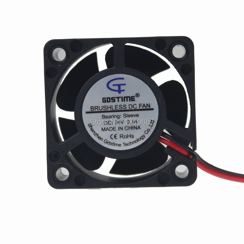 1Pcs DC 12V 4010 cooling fan 40x40x10mm 2-wire for pc case cooler with 1m cable