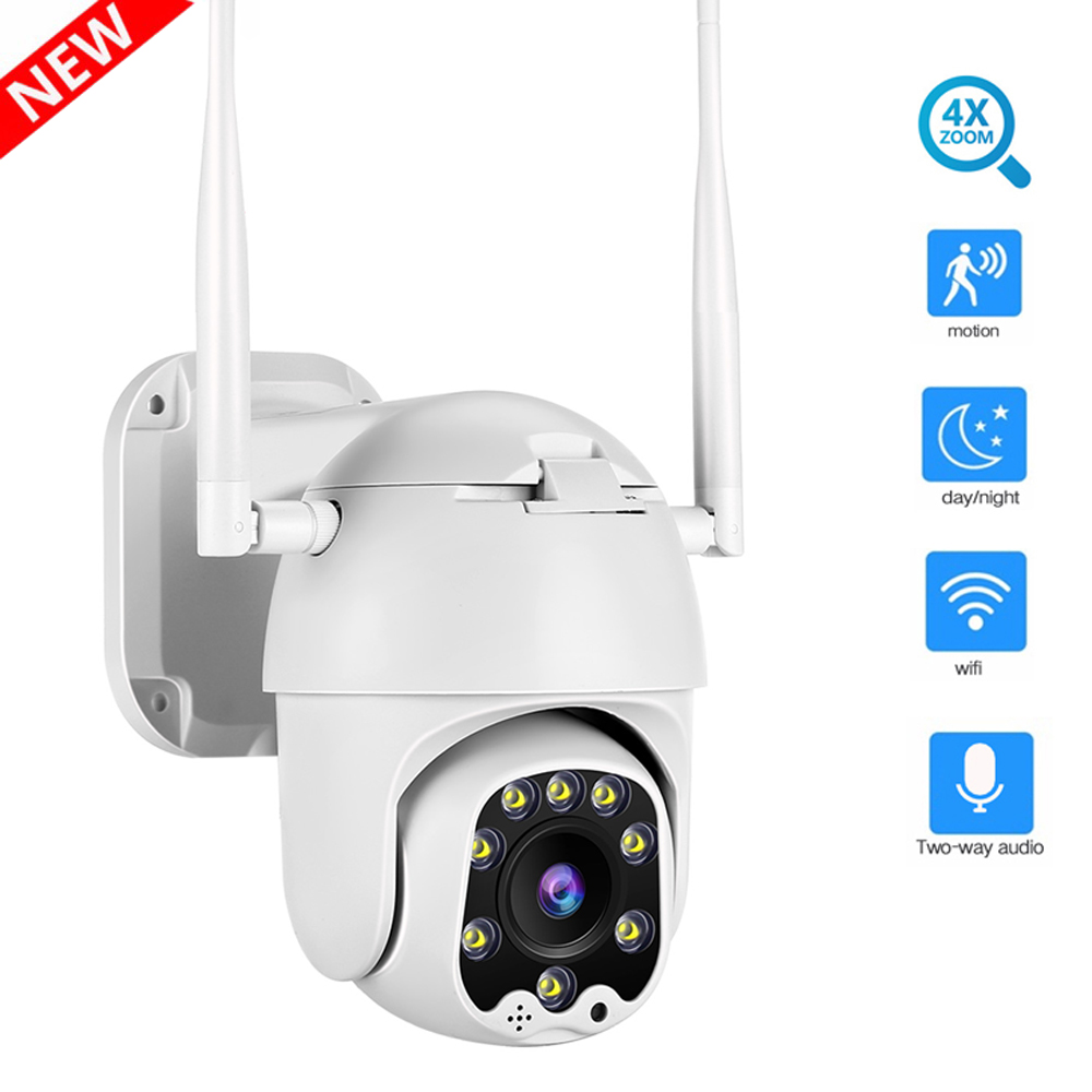 IP Camera Wi Fi 2MP 1080P Wireless PTZ CCTV Speed dome Waterproof IP66 Onvif Camera Outdoor Security Surveillance Camara ipCam