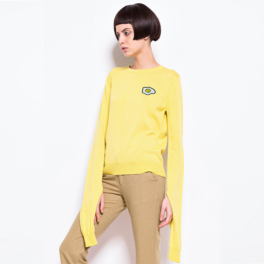 Christmas Yellow Sweater Women Cute Woman Print Vintage Jumper Knitting Fall Luxury Sweaters Tricot Kazak Womens Tops 70F096