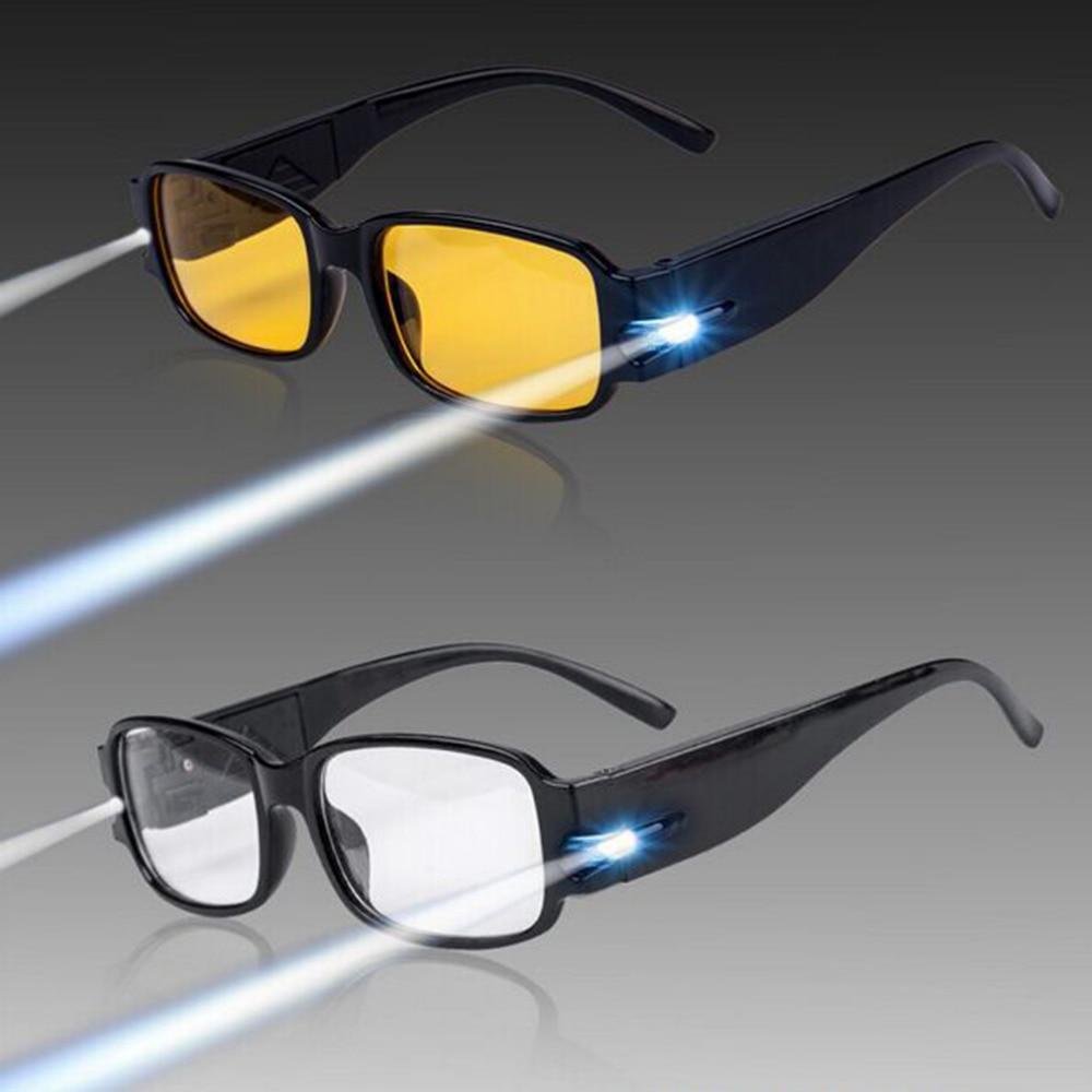 ¡CALIENTE! Los lentes de lectura magnéticos ajustables unisex de la terapia y de la salud de la salud con la luz del LED con el dinero detectan