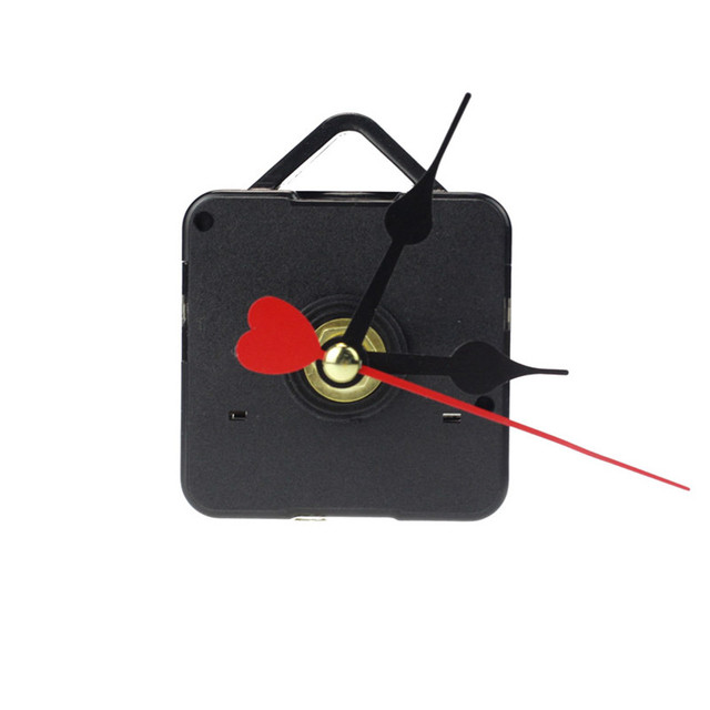 Zero Red Heart Hands DIY Quartz Wall Clock Movement Mechanism Repair Parts Dropshipping June#6