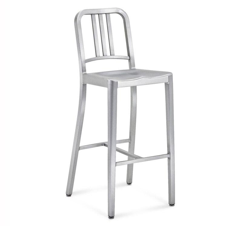 Magnificent Fashion Designer Aluminum Bar Chairs Metal Chairs Minimalist Machost Co Dining Chair Design Ideas Machostcouk