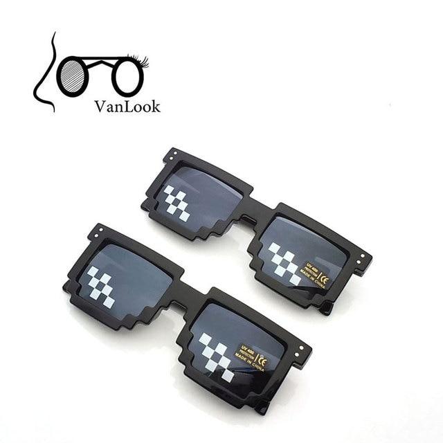 22b8b77318d8d Pixel Glasses Deal with It Sunglasses Sun Points for Women Men Oculos de  Sol Masculinos Femininos 100% Anti UV400 10pcs  Lot