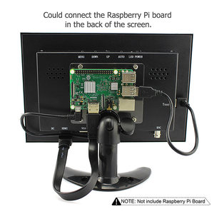 Image 5 - לelecrow פטל pi מגע מסך 10.1 אינץ תצוגת IPS LCD 1280x800 מלא HD צג TFT VGA LCD HDMI מובנה 3 אינץ רמקול