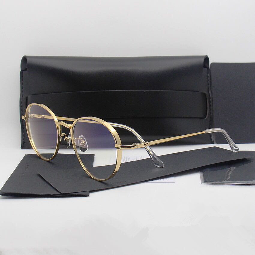 Vintage Round Eyeglasses Frame Gentle Brand Optical  Titanium Glasses Frame Men Women Liberty Oculos De Grau With Original Case