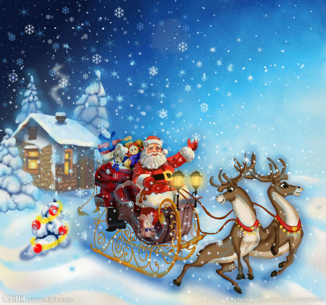 MC160 Printed oil painting on canvas wall art pictures Santa Claus ...