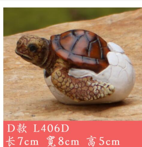 Lovable Small Tortoise Craftwork Animal Sea Turtle Garden Micro Landscape Pool And Pond Statue Home Decoration Wedding In Figurines Miniatures From