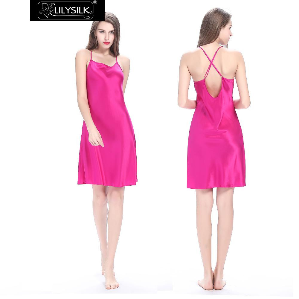 hot-pink-22-momme-crossed-back-silk-nightgown-01
