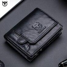 Мужской кошелек из натуральной кожи, мужской кошелек, дизайнерские мужские кошельки на молнии, отделение для монет, держатель для карт, Роскошный кошелек