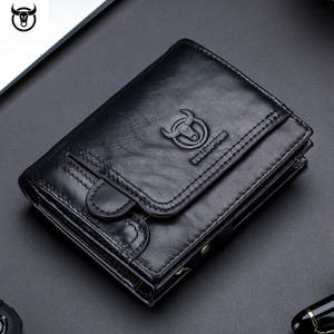 Men Wallet Card-Holder Coin-Pocket Purse-Design Zipper Male Men's Genuine-Leather