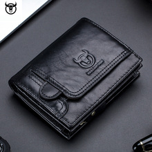 men Wallet Genuine Leather Mens Purse Design male Wallets With Zipper Coin Pocket Card Holder Luxury Wallet