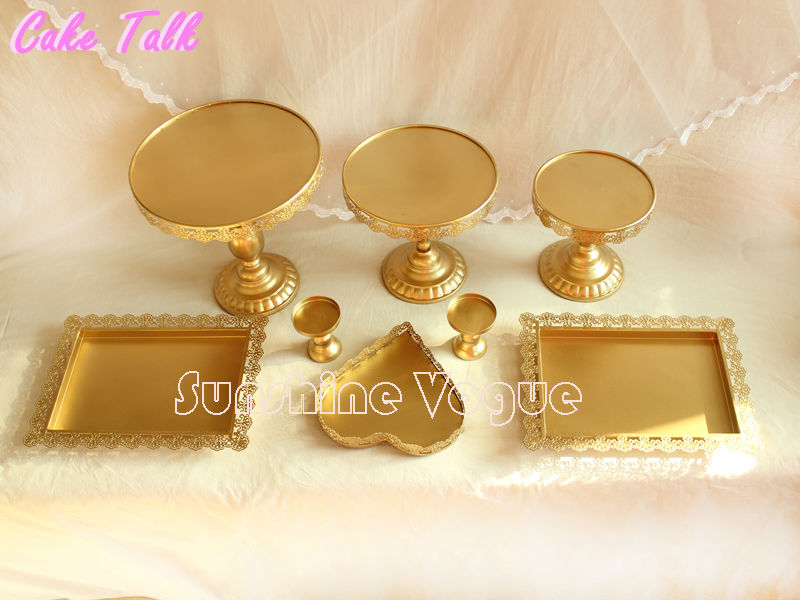 Aliexpress.com : Buy Set of 12 pieces gold cake stand wedding ...