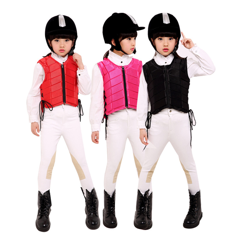 For Kids baby Safety Equestrian Horse Riding Vest Protective Body Protector Shock Absorption Jacket Sportswear Racing Equipment eva horse riding waistcoat safe equestrian eventer body protection vest for women men kids riding armor protector vest 3 colors