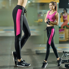women fitness yoga pants quick-drying sports running tights pants Y16060