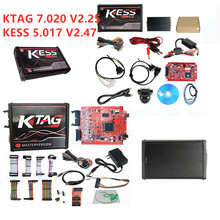 Online V2.47 EU Red KESS V5.017 OBD2 Manager Tuning KTAG V7.020 4 LED KESS V2 5.017 BDM Frame K-TAG V2.25 Auto ECU Programmer new ecu test adaptor for benz ecu adaptor tool work with mb key obd2 vvdi tool nec57 ktag kess ecu cable for benz free shipping