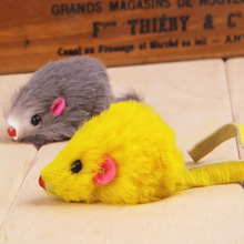 Real Rabbit Fur Mice Cat Toys 5pcs/pack Zanies Rainbow Cat T
