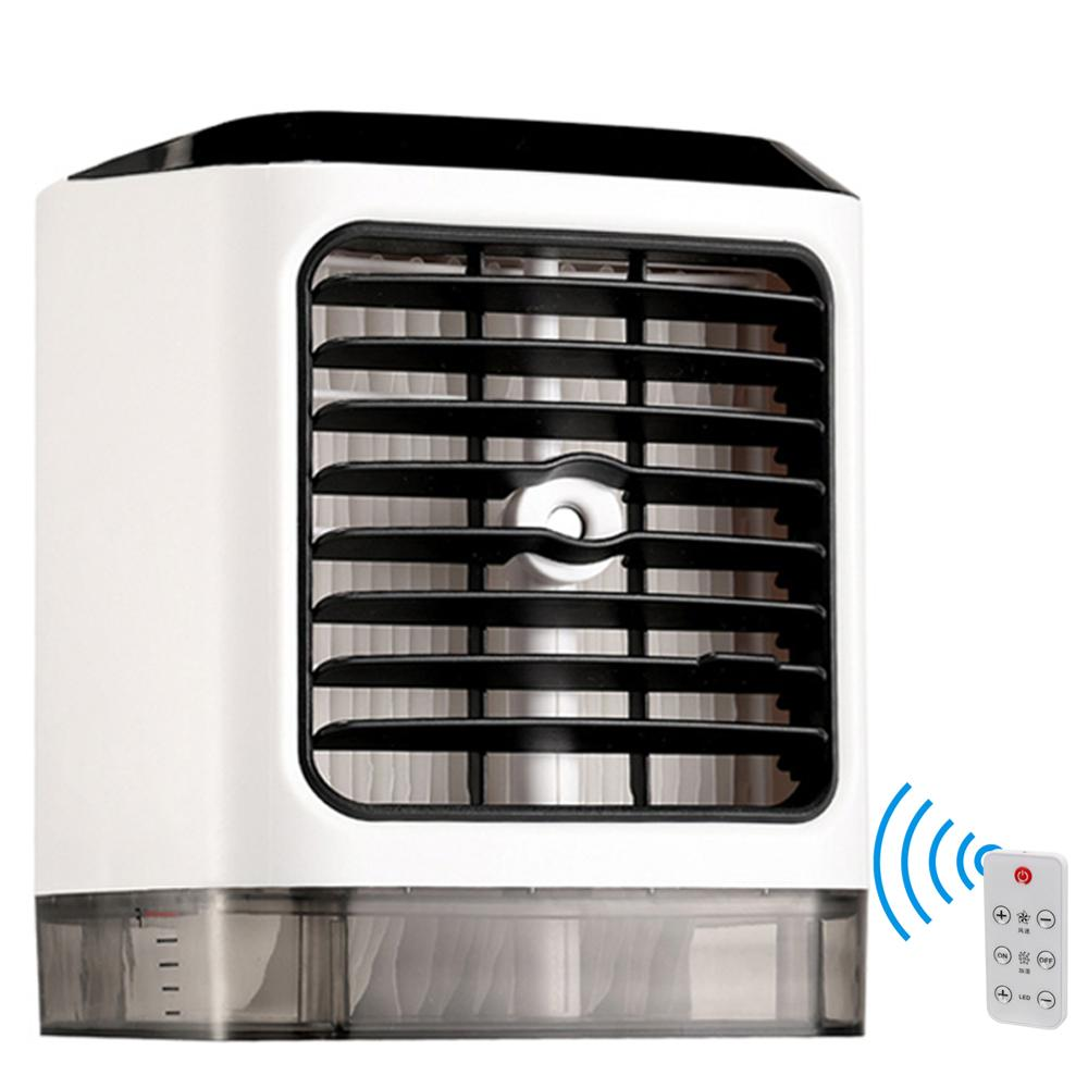 Air Cooler Small Air Conditioning Mini Fans Summer Portable Conditioner Remote Control Small Space Cooler Personal USB Desktop