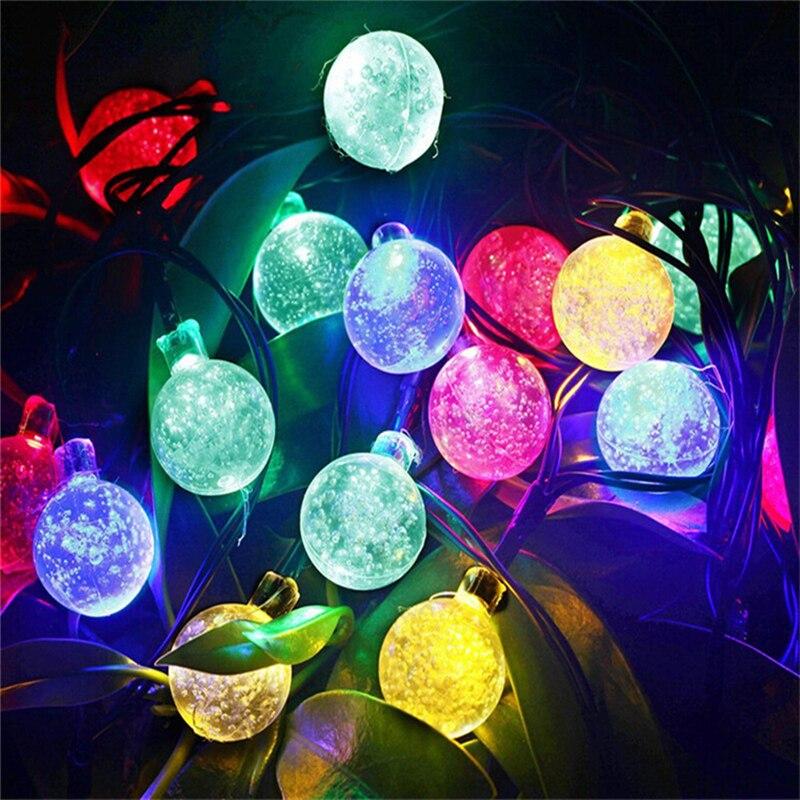 Da Lâmpada Solar Luzes LED String Fada