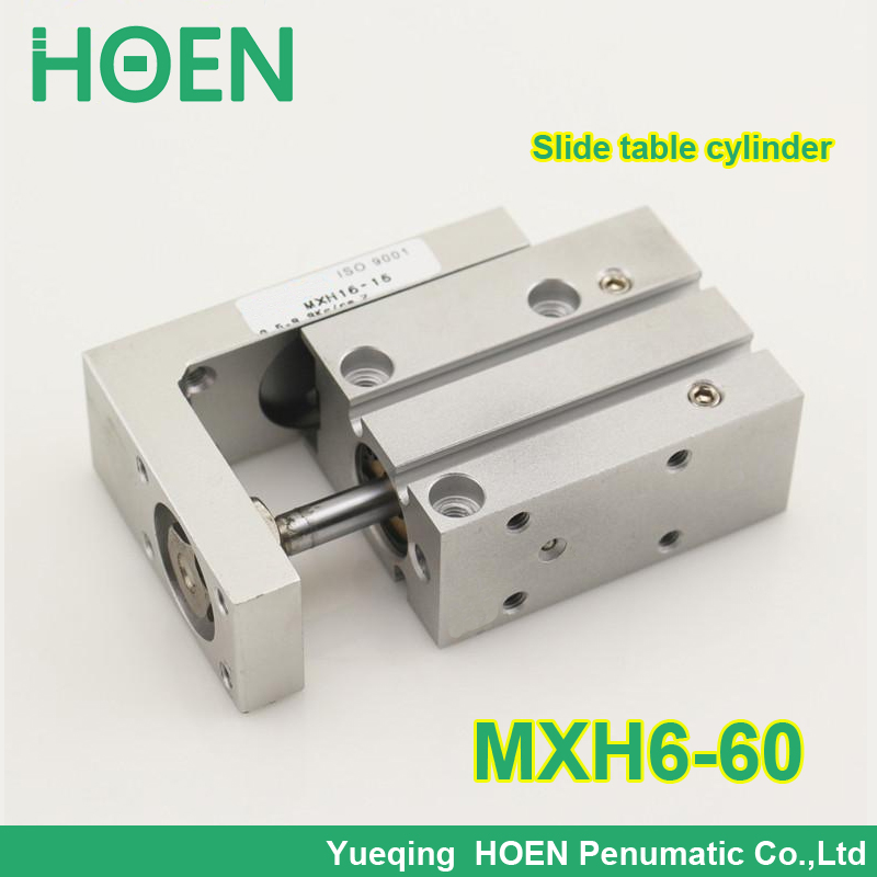SMC type MXH6-60 MXH series Mountable auto switch Small pneumatic slide table cylinder with 6mm bore 60mm stroke MXH6*60 MXH6X60 mxh20 60 smc air cylinder pneumatic component air tools mxh series with 20mm bore 60mm stroke mxh20 60 mxh20x60