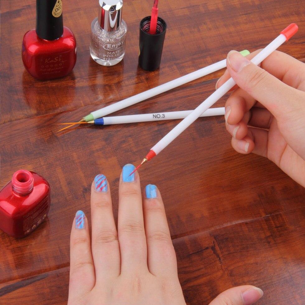 3pcs/set Nail Art Design Pens DIY Acrylic Drawing Painting 3D Carved ...