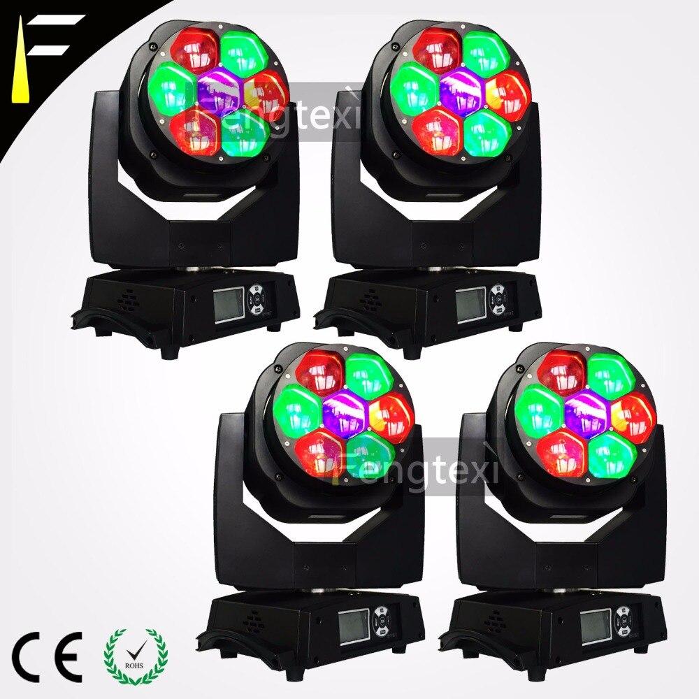 Ночной клуб Бард луч света 7x15 Вт RGBW 4in1 Цвет смешивания светодиодный стирка Мега увеличить луча Moving головной свет ума Разделение цветок эффе