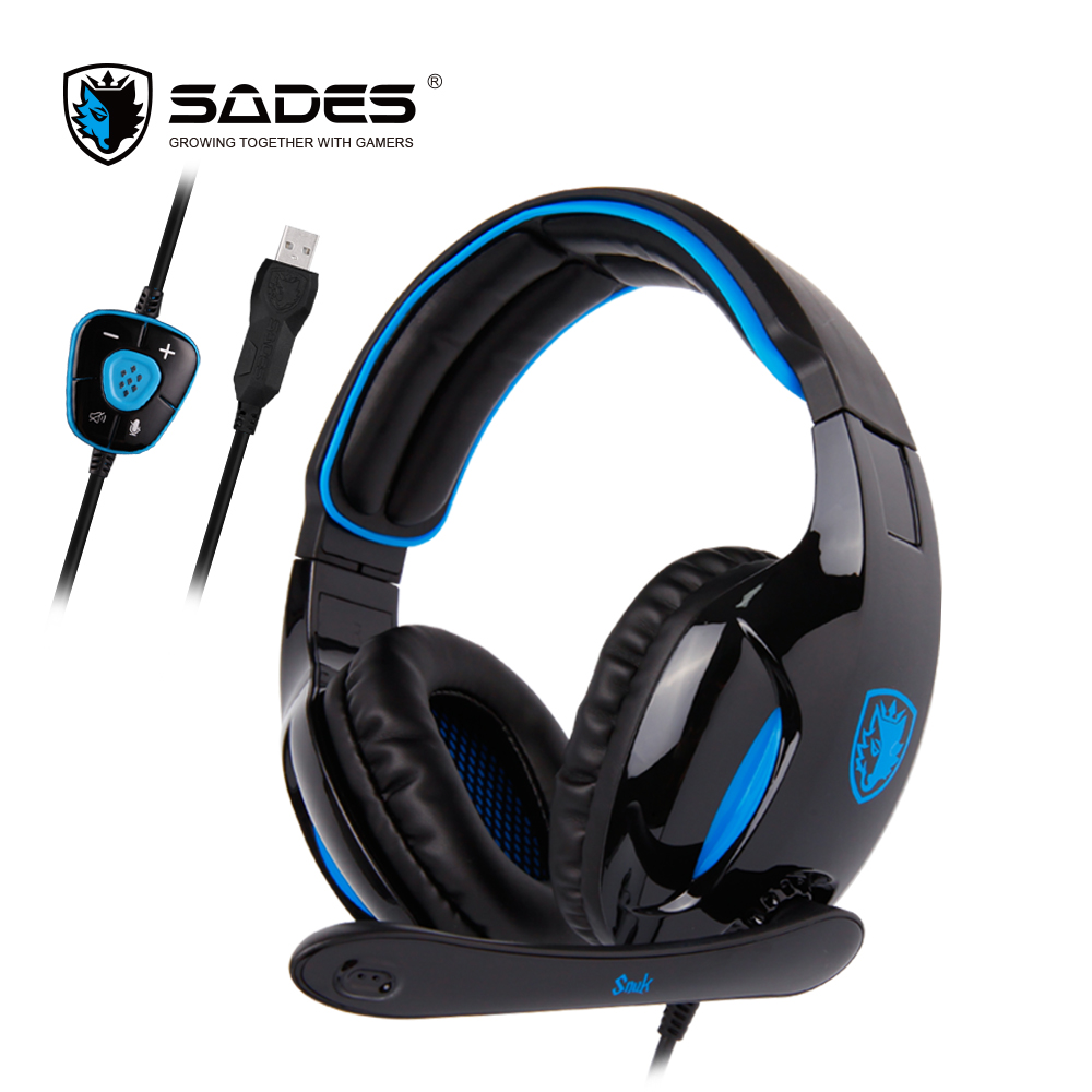 SADES SNUK Virtual 7.1 Surround Sound Gaming Headset USB Hoofdtelefoon Voor Gamer-in Hoofdtelefoon/Headset van Consumentenelektronica op  Groep 1