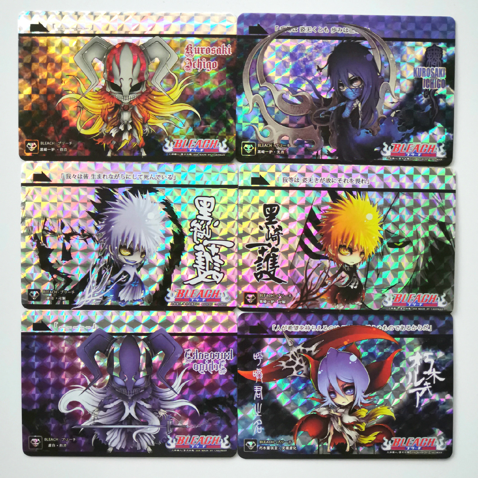 54pcs/set BLEACH Q Version Toys Hobbies Hobby Collectibles Game Collection Anime Cards
