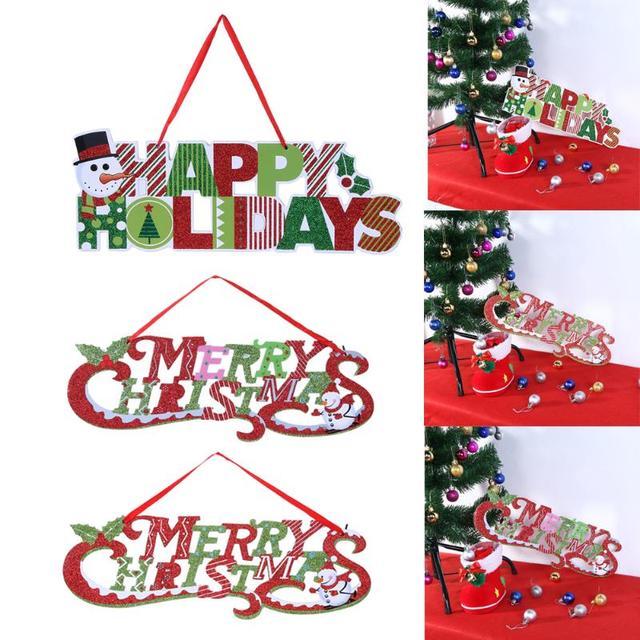 Buon Natale Glitter.Decorazione Di Natale Per La Casa Glitter Buon Natale Lettera Albero