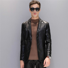 Jaqueta Couro Men Leather Jacket 2018 Spring Autumn New Large Size Jackets Thin Korean Slim Outerwear