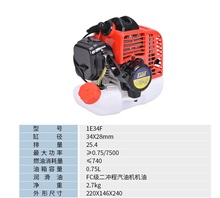 FST brand 2 stroke engine 1E34F engine good quality made in China, durable engine. 1HP