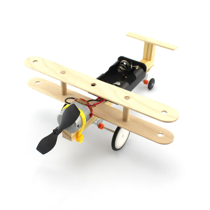 Electric Taxi Airplane Taxiing Glider Wind Air Power Handmade DIY Science Technology Small Inventions Science Experiments Toy