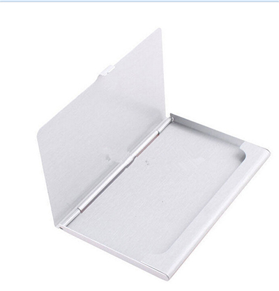 !Waterproof Stainless Steel Aluminium Metal Case Box Business ID Credit Card Holder Case Cover 9.3x5.7x0.7cm