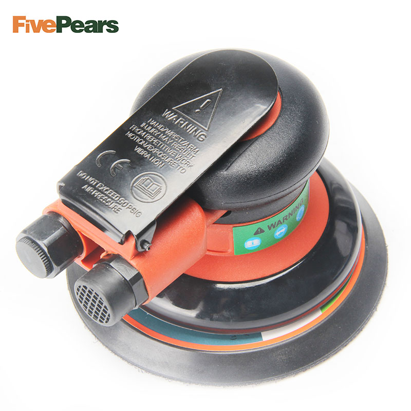 FREE SHIPPING Quality 5 125mm Pneumatic Polisher Air Eccentric Orbital Sanders Cars Polisher Air Tools FivePears
