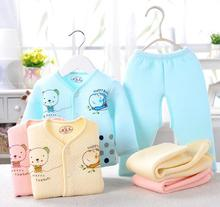 Baby Clothing Warm Set Boy Girl Kids Infant Pants Clothes Suit Long Sleeved Thermal Underwear Indoor Style