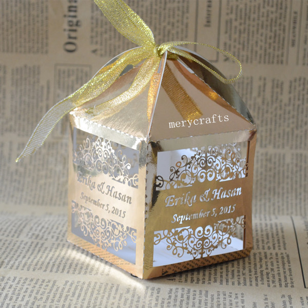 Arabic Style Personalised Bespoke Wedding Favors Available In A