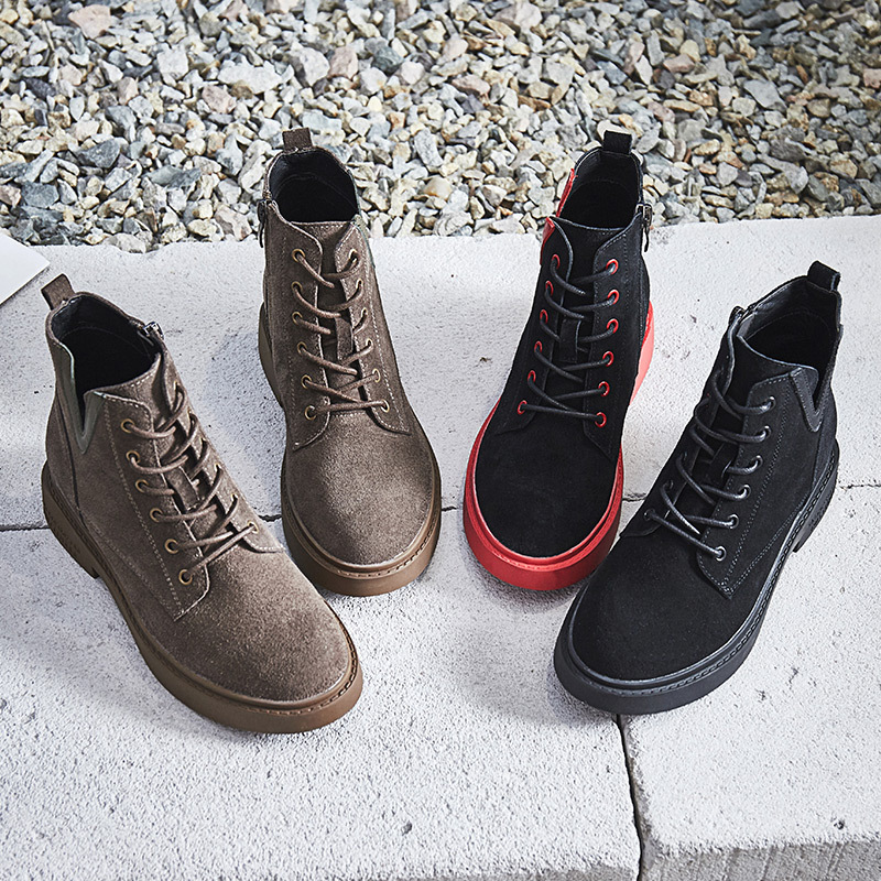 Martin boots female British wind 2018 autumn and winter new Korean version of the wild retro matte leather boots womens boots.Martin boots female British wind 2018 autumn and winter new Korean version of the wild retro matte leather boots womens boots.
