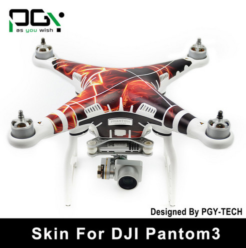 PGY PVC Skin For DJI Phantom 3 Waterproof 3M Sticker professional Drone parts C09